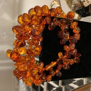 Amber necklace from russia